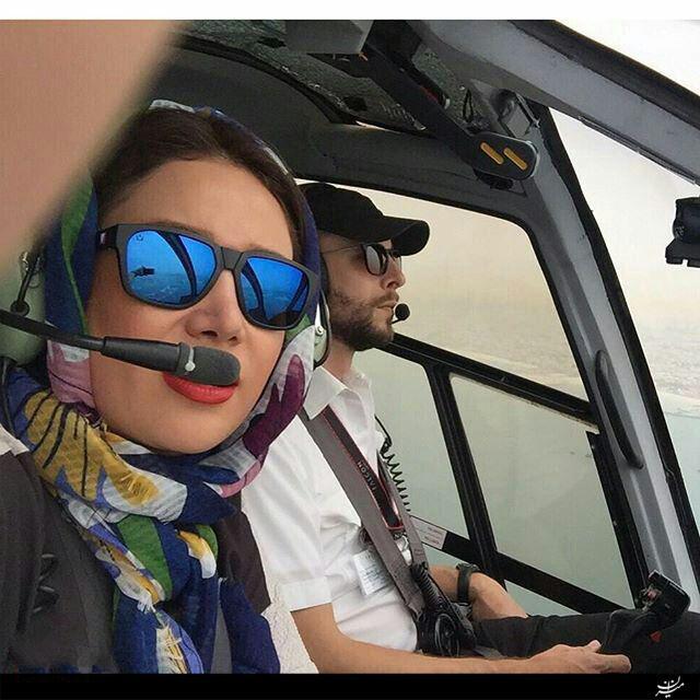 1462000003 عکس جدید بهاره افشاری در کابین خلبان !