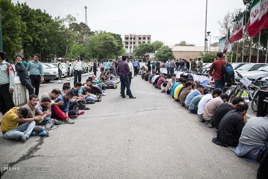 1462286915 عکس های بازداشت 131 سارق در تهران