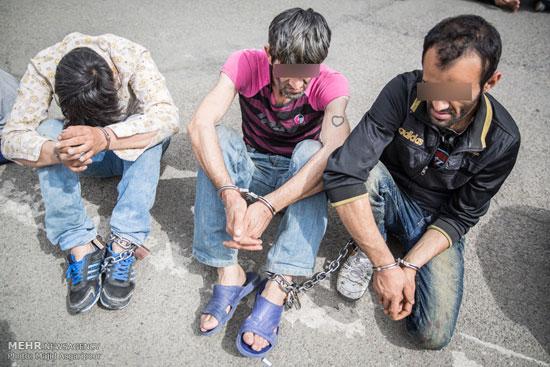 1462290283 عکس های بازداشت 131 سارق در تهران