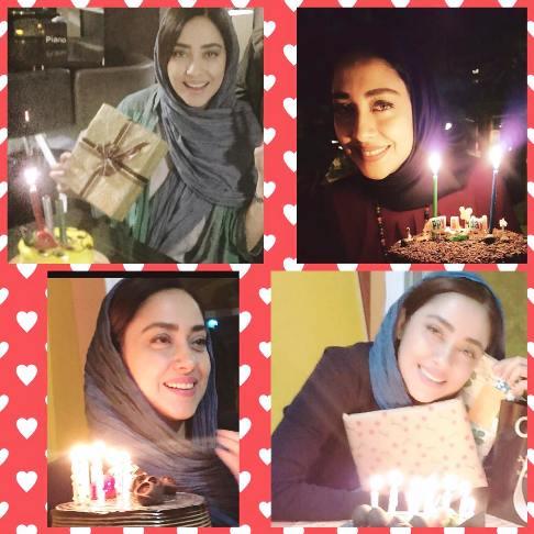 1462307374 عکس های جشن تولد بهاره کیان افشار بازیگر ایرانی