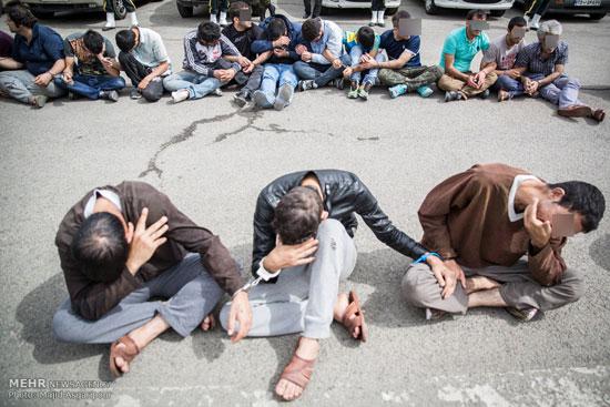 1462313827 عکس های بازداشت 131 سارق در تهران