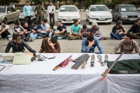 1462316280 عکس های بازداشت 131 سارق در تهران