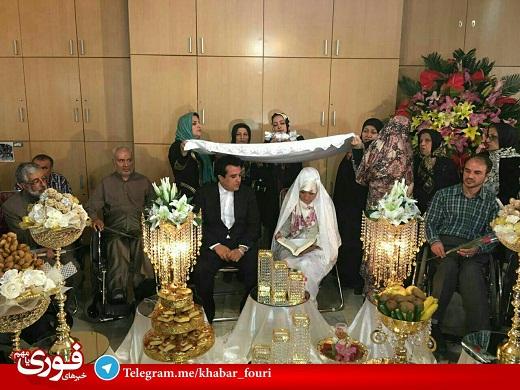 1462596934 عکس مراسم عقد حسینی بای مجری معروف تلویزیون