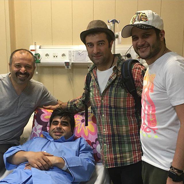 1463748608 عکس: عیادت بازیگران از امیر نوری در بیمارستان