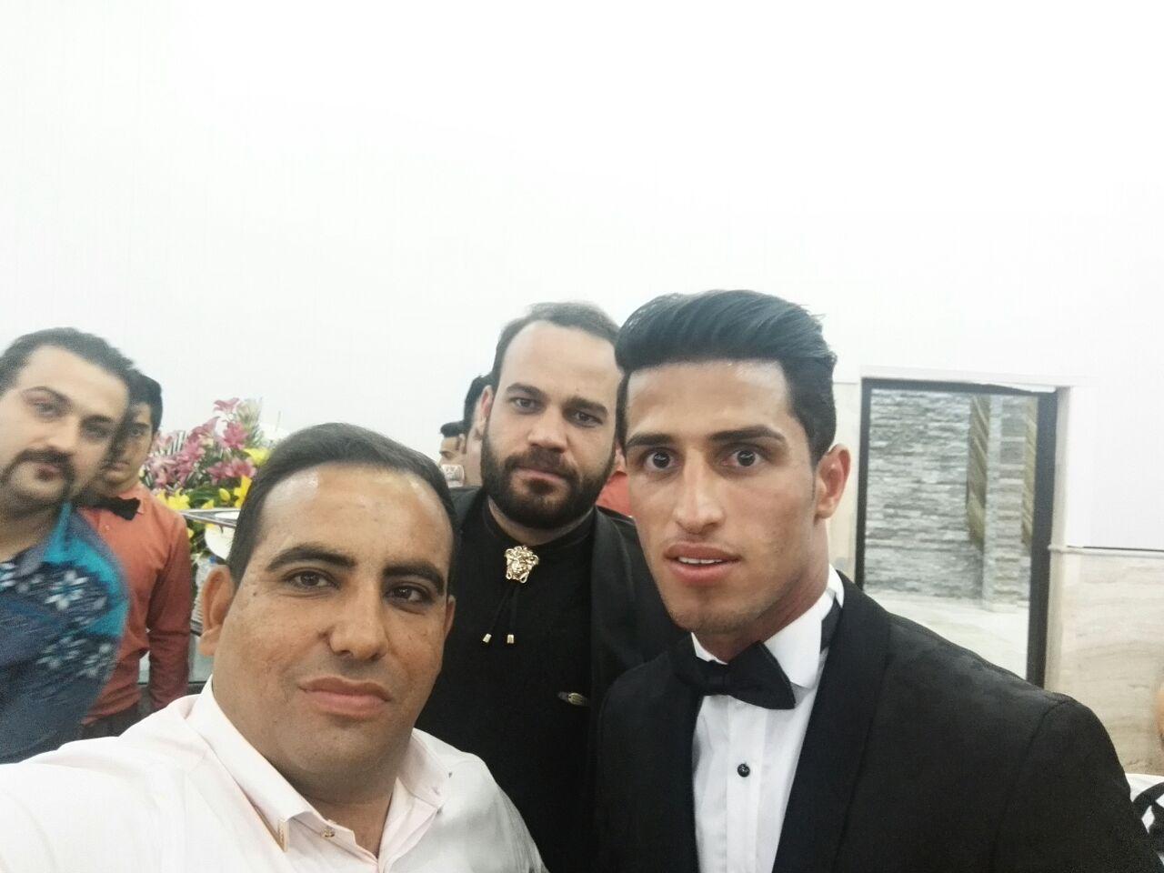 1464243176 عکس های بازیکنان پرسپولیس در مراسم عروسی علی علیپور
