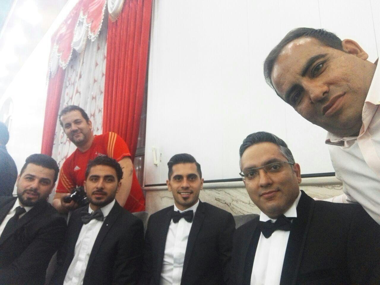 1464257851 عکس های بازیکنان پرسپولیس در مراسم عروسی علی علیپور