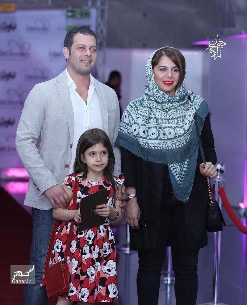 1464555197 عکس پژمان بازغی به همراه همسر و دخترش در اکران بارکد