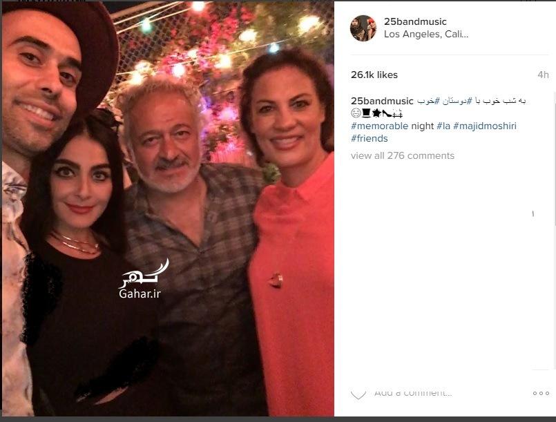 1467495682 بازیگر مرد ایرانی در کنار دو خواننده لس انجلسی معروف به 25 باند