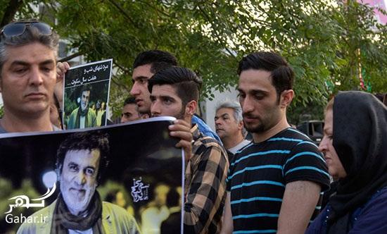 1469013329 عکس های مراسم چهلم حبیب محبیان با حضور مردم و بازیگران