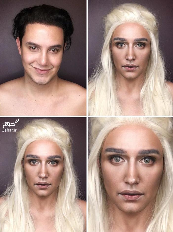 1469022035 مردی که با آرایش شبیه هفت بازیگر سریال تاج و تخت شد ؛ عکس