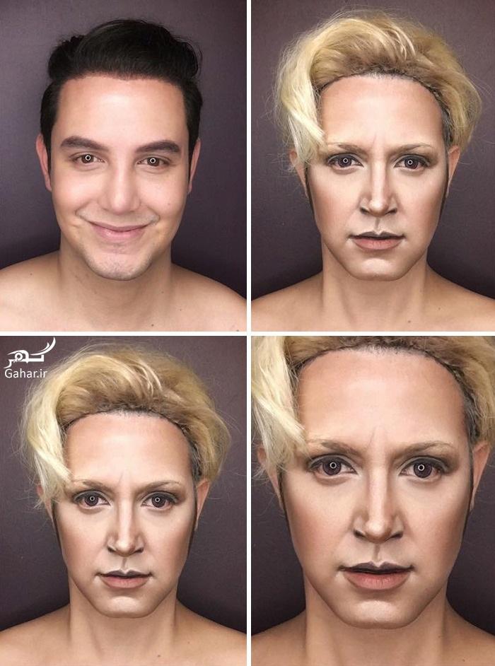 1469023726 مردی که با آرایش شبیه هفت بازیگر سریال تاج و تخت شد ؛ عکس