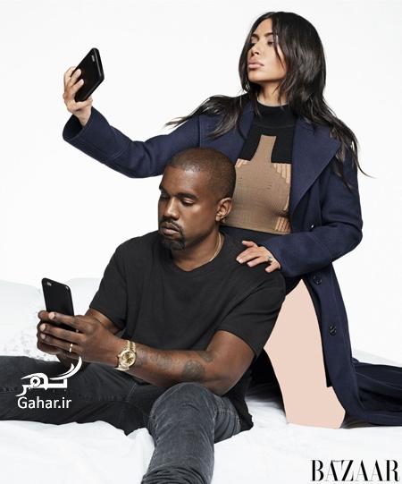 1470664873 عکس های جدید کیم کارداشیان و همسرش برای مجله هارپر بازار