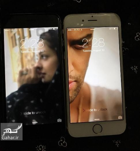 1472830369 عکس هنری بنیامین بهادری و همسرش روی صفحه موبایل!