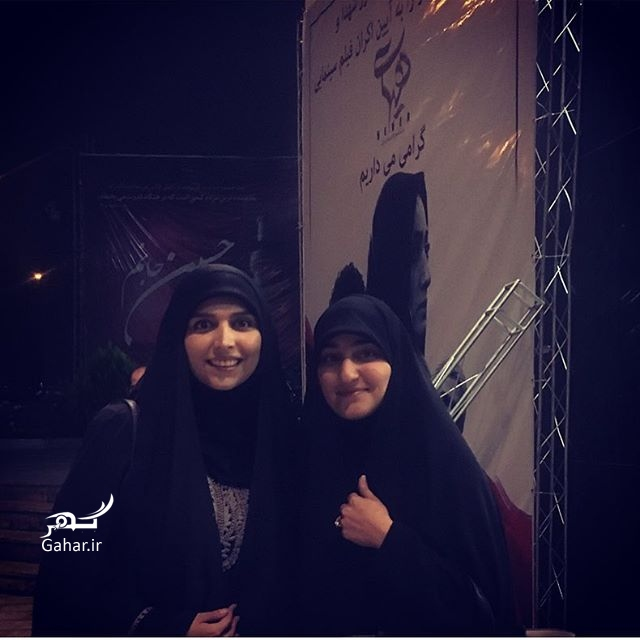 1477101470 عکس مژده لواسانی و دختر سردار سلیمانی در اکران هیهات