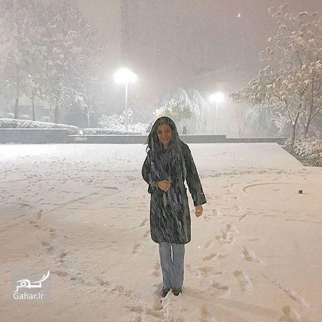 1480037362 هنرمندان اینستاگرام را هم برفی کردند ؛ عکس بازیگران در برف