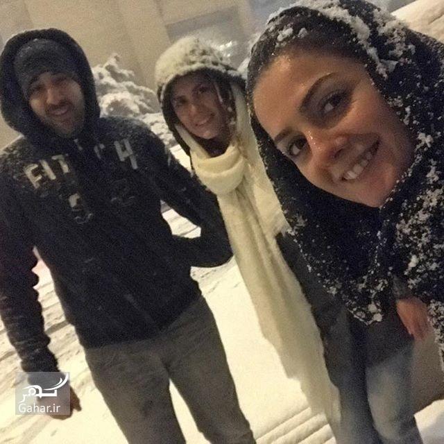1480047403 هنرمندان اینستاگرام را هم برفی کردند ؛ عکس بازیگران در برف