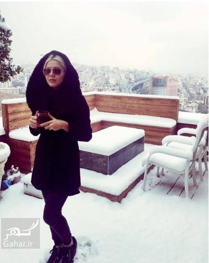 1480068527 هنرمندان اینستاگرام را هم برفی کردند ؛ عکس بازیگران در برف