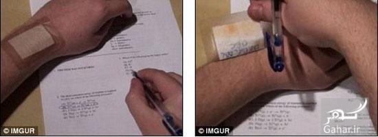 1482450081 عکس های دیدنی از روش های تقلب در امتحان