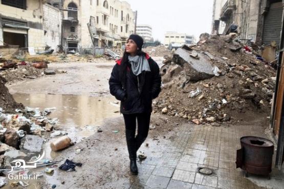 1483280659 بازیگر زن آمریکایی برای ساخت مستند به حلب سوریه رفته ؛ عکس