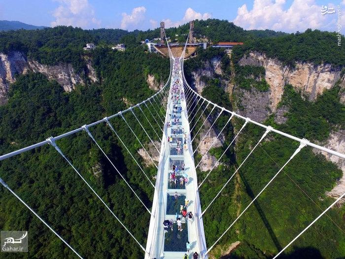 1483616295 اولین پل معلق و شیشه ای جهان در چین افتتاح شد