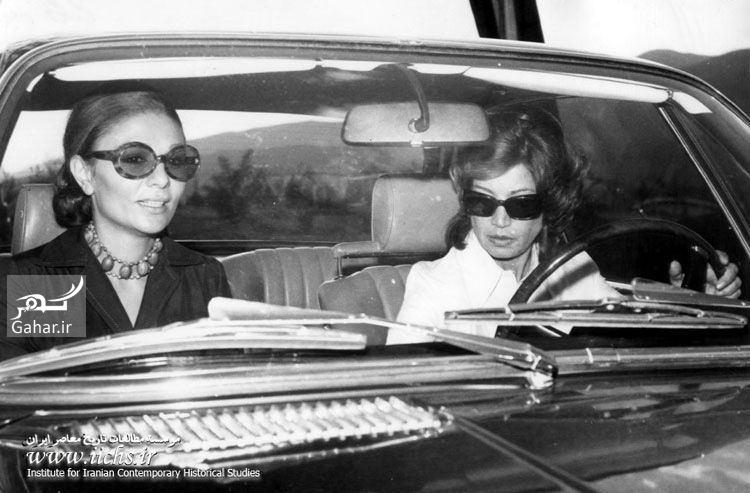 1484680433 خواهر شاه و فرح دیبا در ماشین لوکس ؛ عکس