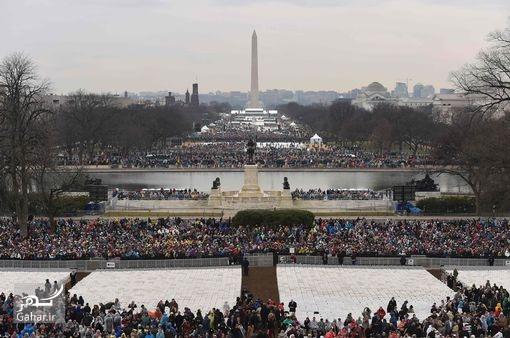 1484974283 گزارش تصویری ؛ ترامپ رسما رئیس جمهور آمریکا شد و سوگند یاد کرد