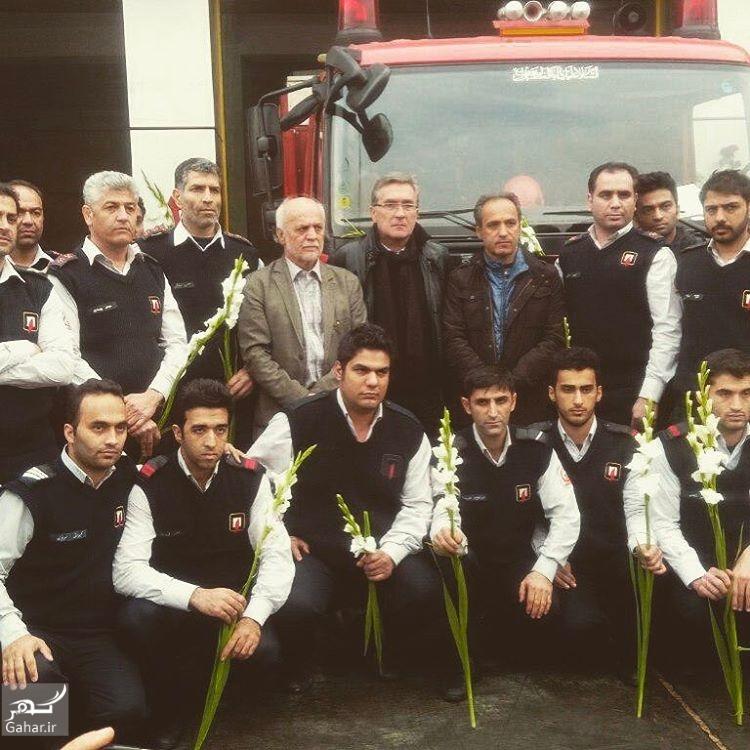 1485220953 حضور برانکو ایوانکوویچ در ایستگاه آتش نشانی+تصاویر
