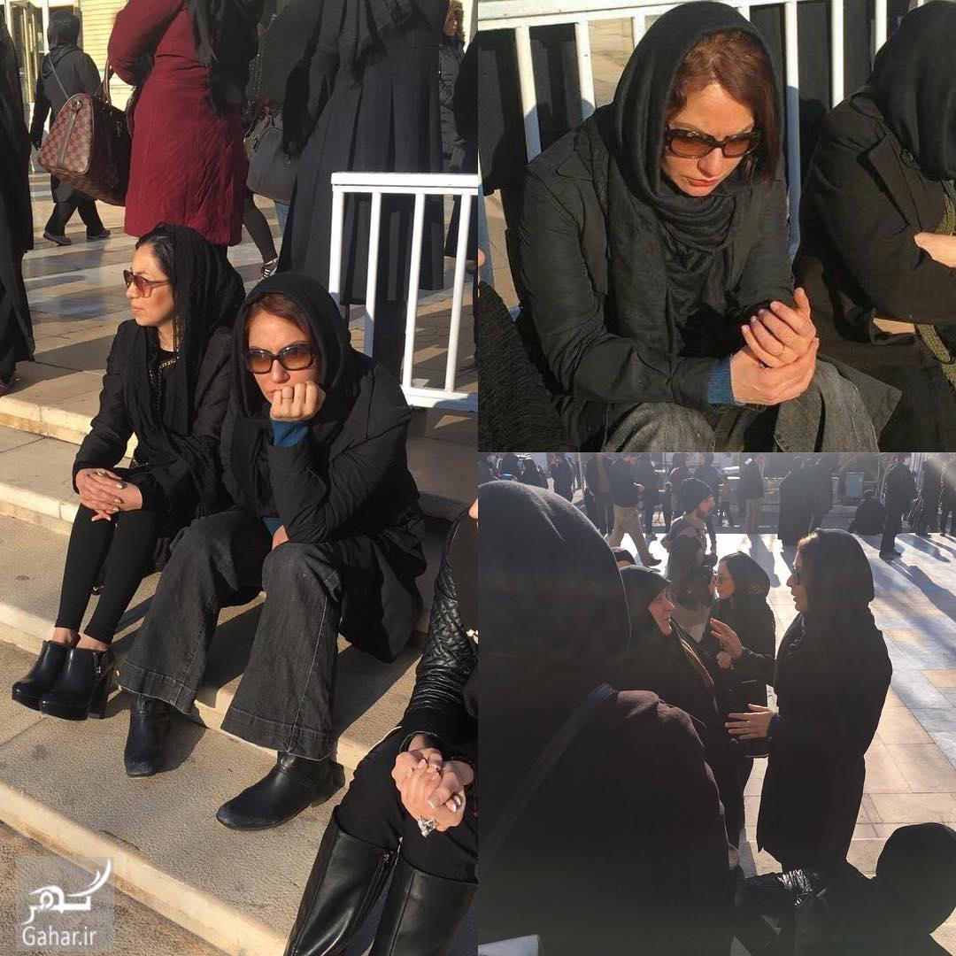 1485855306 حضور بازیگران در مراسم تشییع شهدای آتش نشان پلاسکو؛عکس