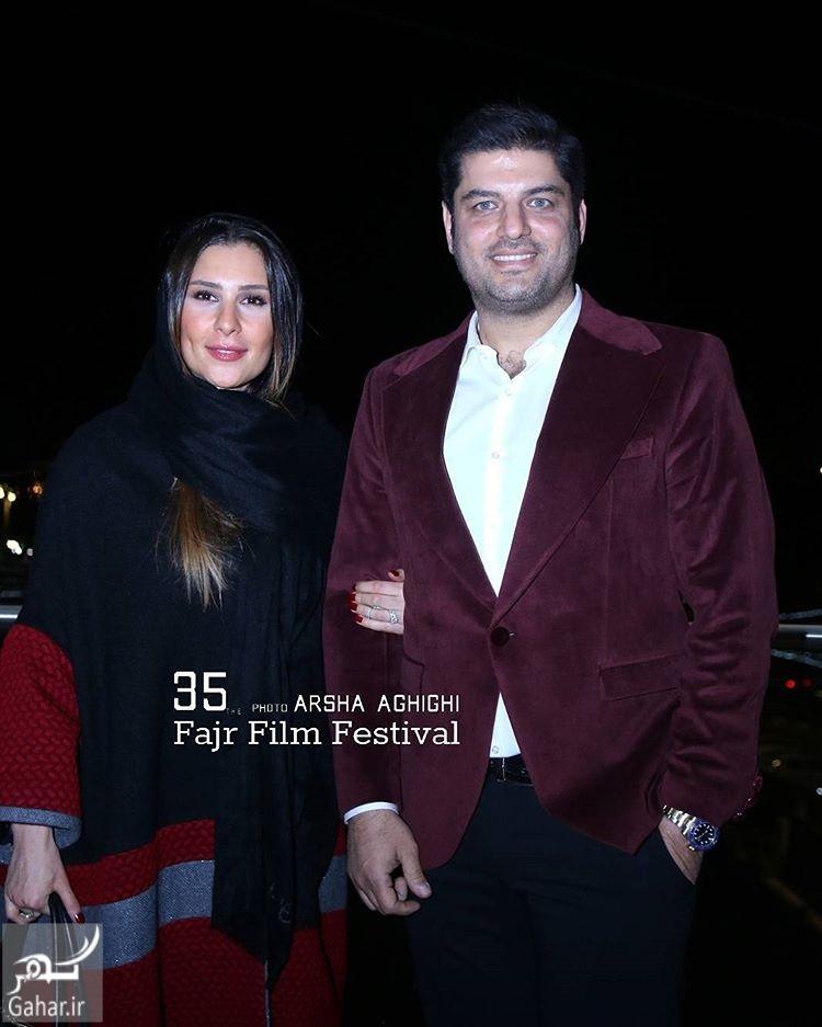 1486165762 سام درخشانی و همسرش در ششمین روز جشنواره فجر 95؛عکس