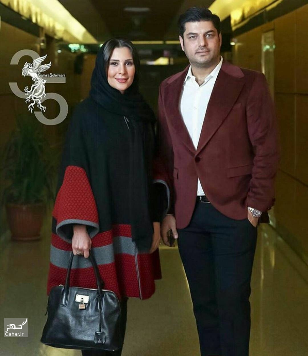 1486171751 سام درخشانی و همسرش در ششمین روز جشنواره فجر 95؛عکس
