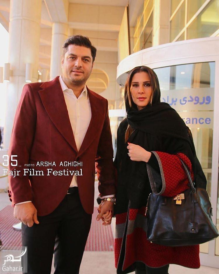 1486195256 سام درخشانی و همسرش در ششمین روز جشنواره فجر 95؛عکس