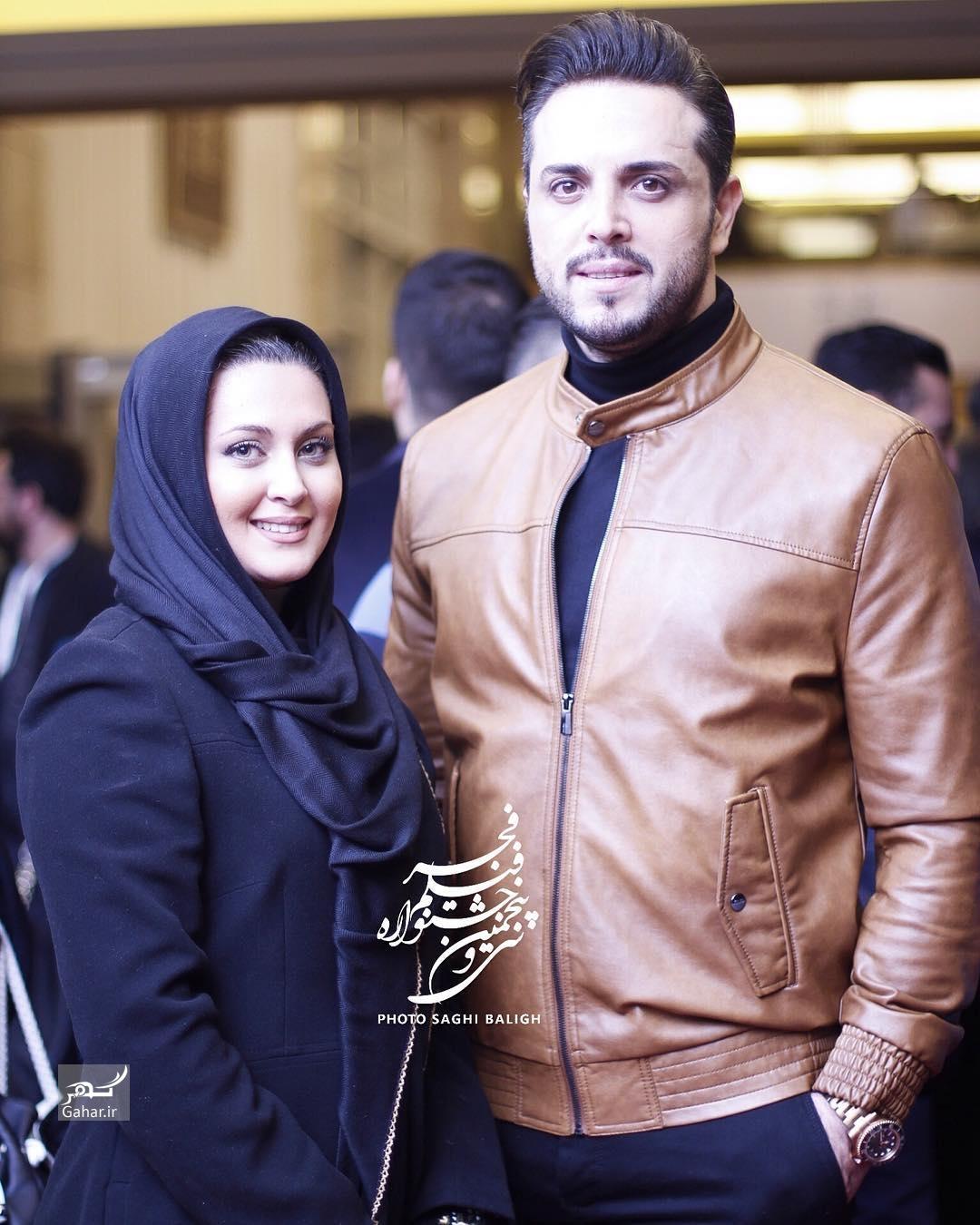 1486458254 عکس های هنرمندان و همسرانشان در سی و پنجمین جشنواره فجر