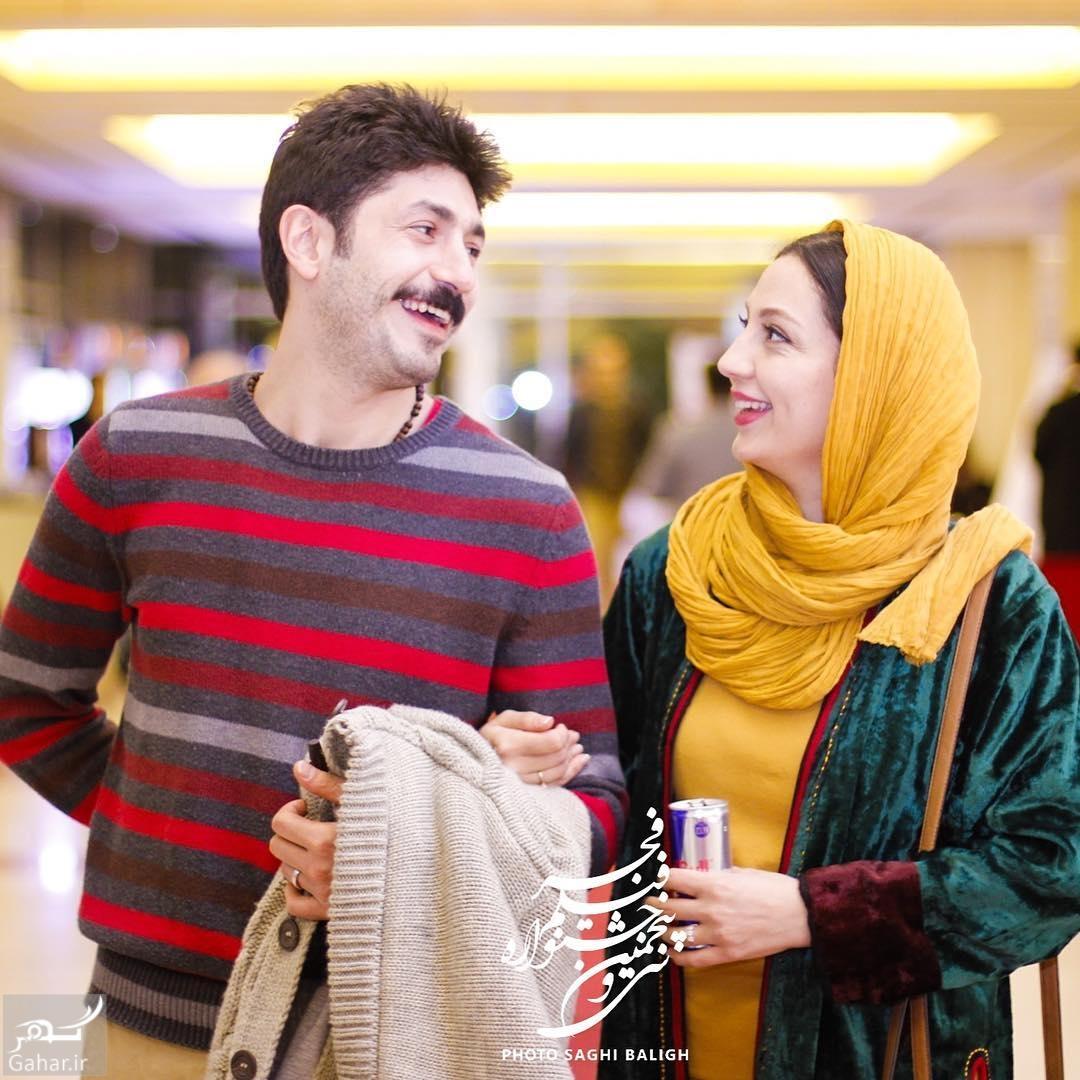 1486496007 عکس های هنرمندان و همسرانشان در سی و پنجمین جشنواره فجر