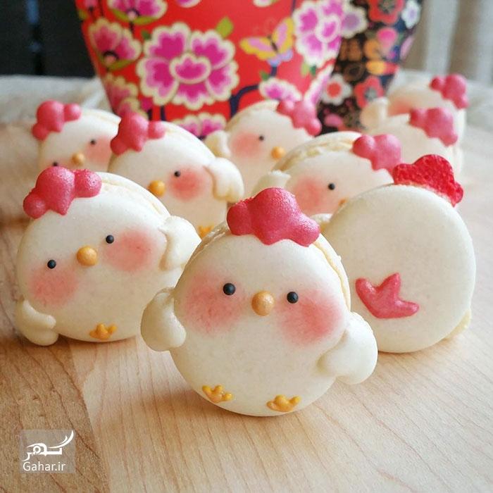 1486759369 تزئین شیرینی ماکارون به شکل های جالب ؛ عکس