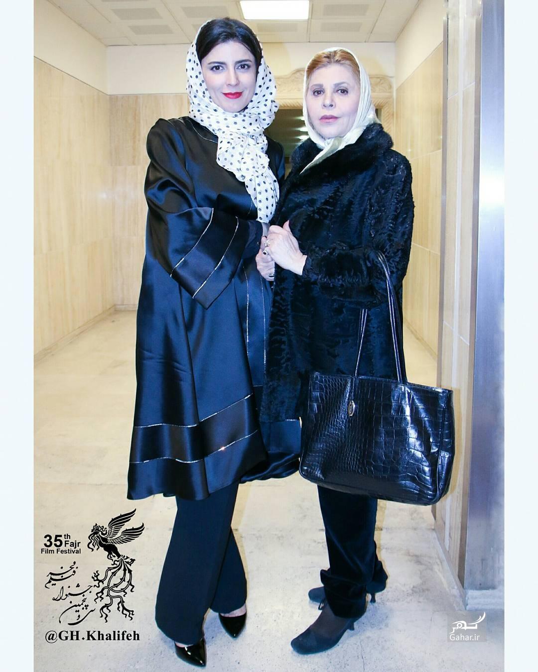 1486759543 لیلا حاتمی بهمراه مادرش در اختتامیه سی و پنجمین جشنواره فجر + عکس