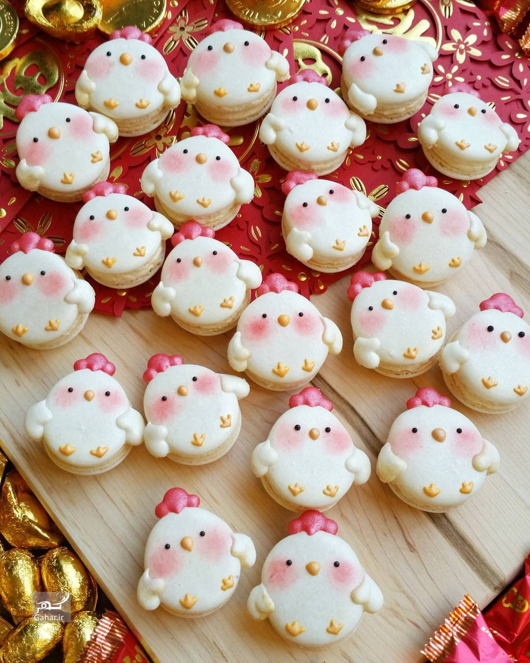 1486793373 تزئین شیرینی ماکارون به شکل های جالب ؛ عکس