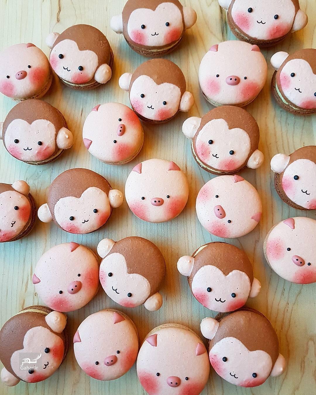 1486844848 تزئین شیرینی ماکارون به شکل های جالب ؛ عکس