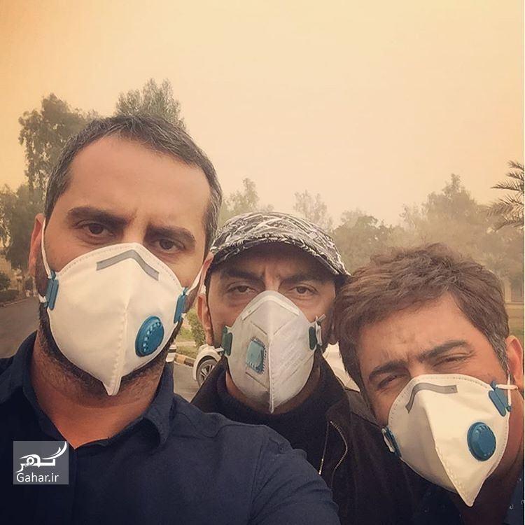 1487483124 اینستاگردی:بازیگران با ماسک به اهواز سفر کردند/عکس