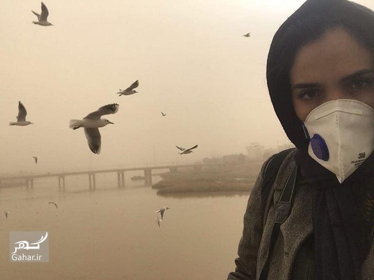 1487542967 اینستاگردی:بازیگران با ماسک به اهواز سفر کردند/عکس