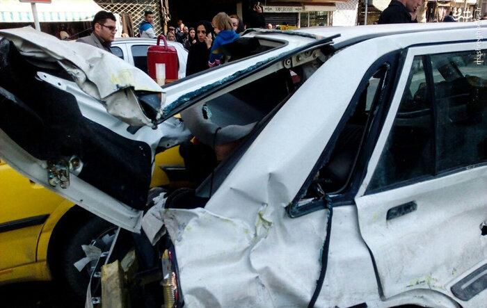 1487759629 حادثه ناگوار در کرج رخ داد ؛ برخورد اتوبوس با عابران / عکس