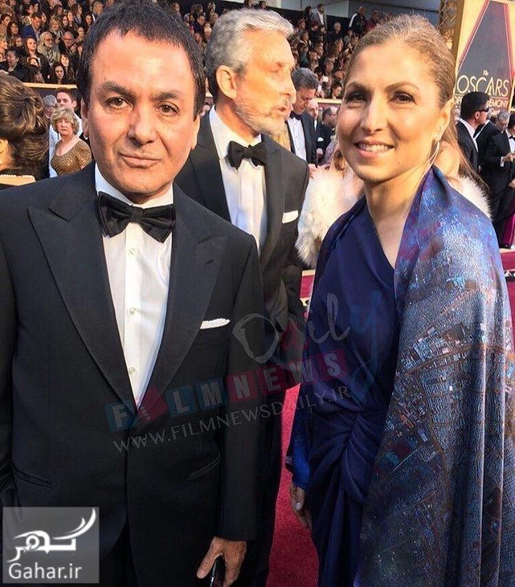 1488237127 لباس خاص انوشه انصاری در مراسم اسکار 2017 + عکس