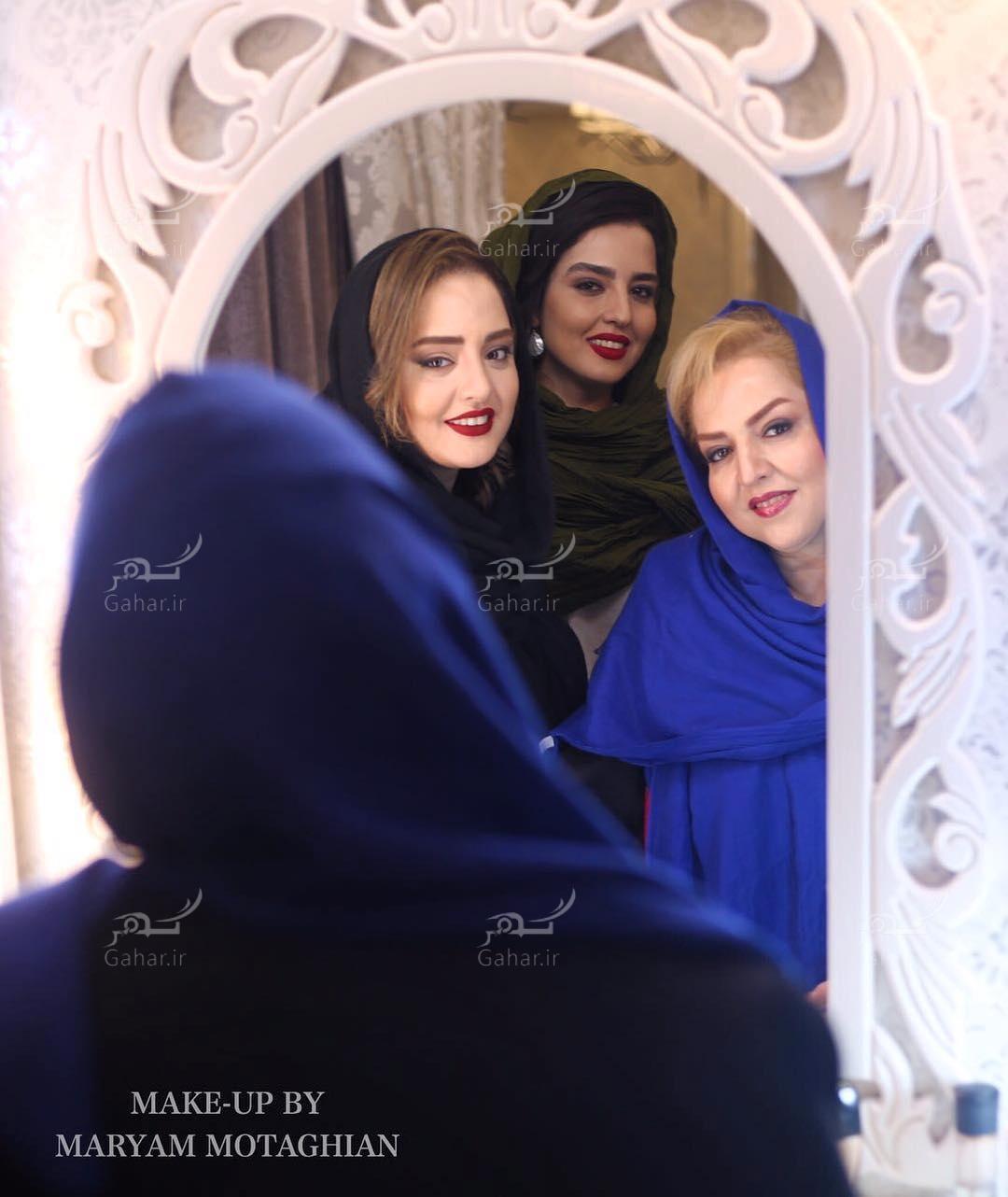 1489137889 عکس جذاب و دیدنی نرگس محمدی به همراه مادر و خواهرش