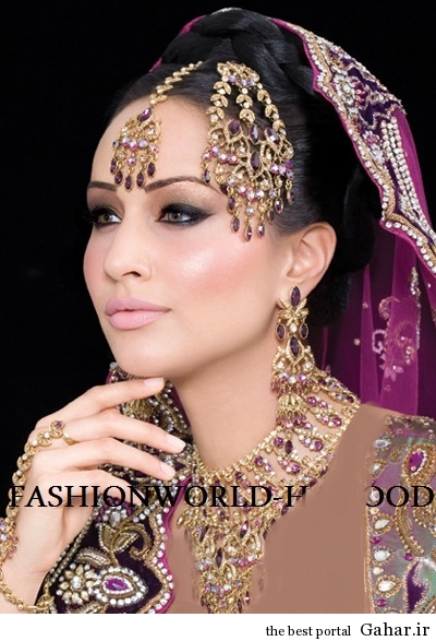 arayesh hendi 1 مدل جدید آرایش عروس هندی 2014