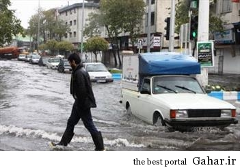بارش شدید باران در ساری همچنان ادامه دارد, جدید 1400 -گهر