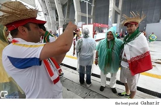 عکس های بازیگران در برزیل ( بازی ایران و بوسنی ), جدید 1400 -گهر