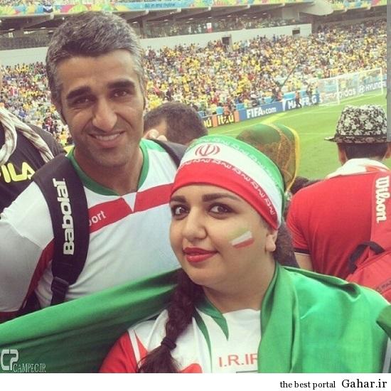 عکس های بازیگران در برزیل ۲ ( بازی ایران و بوسنی ), جدید 1400 -گهر