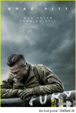 پوستر جدید فیلم Fury با نقش آفرینی براد پیت, جدید 1400 -گهر