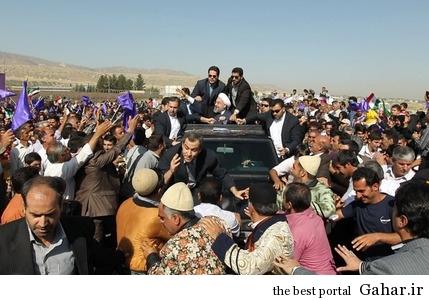 k84pl73eybqmp3bn55 استقبال عروس و داماد از روحانی در لرستان / عکس