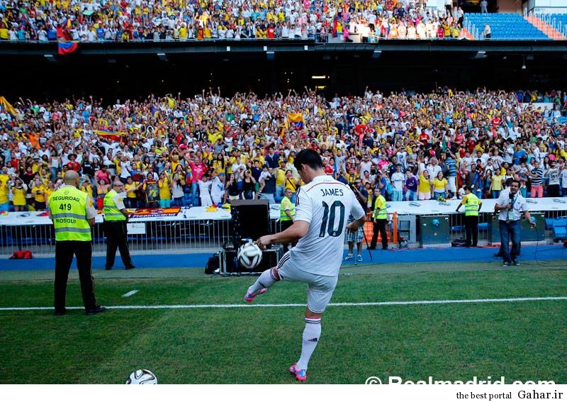 عکس های معارفه خامس رودریگز پس از پیوستن به رئال مادرید, جدید 1400 -گهر