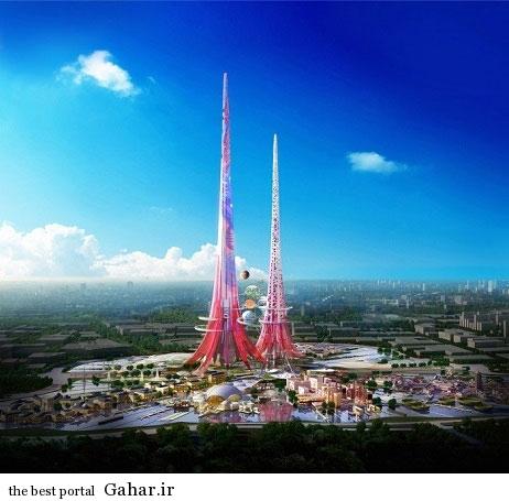 بلندترین برج نر و ماده جهان / عکس, جدید 1400 -گهر